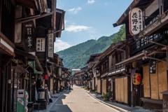 奈良井宿の街並み