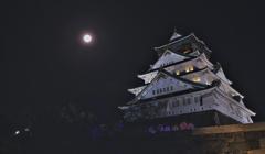月夜の天守閣