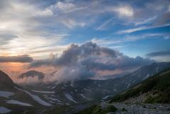 立山でみる 夕…