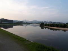 今朝の大和川~♪