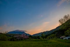 #水の山の朝…