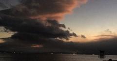 びわ湖 秋の夕暮れ