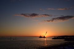 南紀田辺湾の夕景