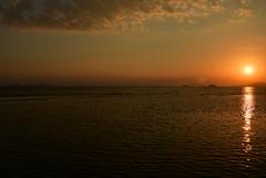 播磨灘の夕景 新舞子浜