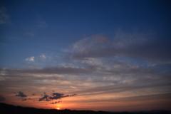 春 ある日の夕焼け
