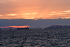 大阪湾夕景