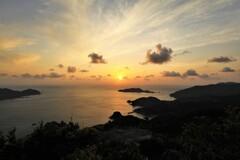 亀ヶ丘から望む夕日