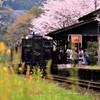 嘉例川駅の春の訪れ