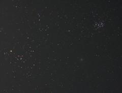 ヒアデス、プレアデス、ウィルタネン彗星の3点セット