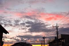 昨日の夕陽の上はピンク色(*^o^*)