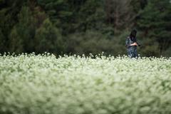 蕎麦畑と奥さん