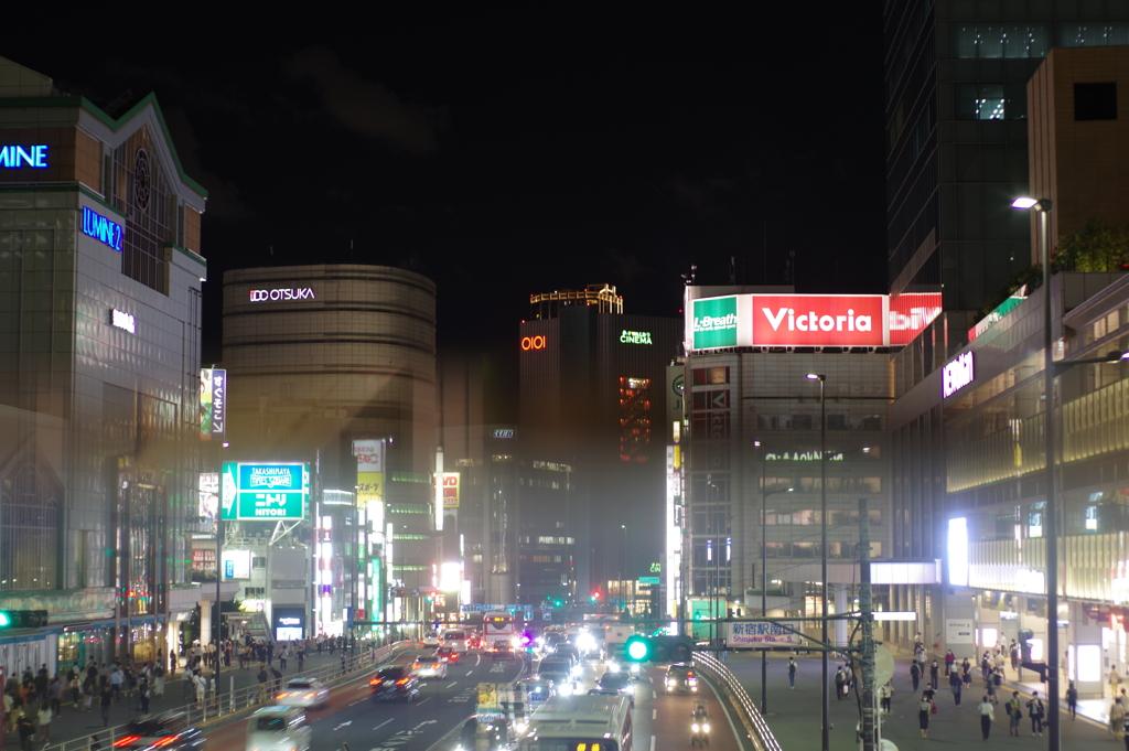 新宿駅前、甲州街道