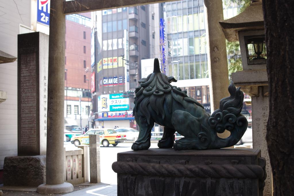 唐獅子_花園神社
