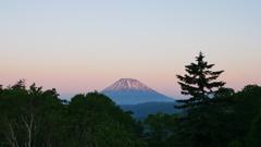 朝から羊蹄山