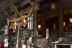 鞍馬の中の神社