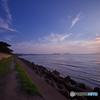 『静かな海の夕景』