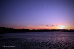 多々良沼の夕日