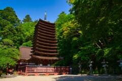 新緑の十三重塔~談山神社