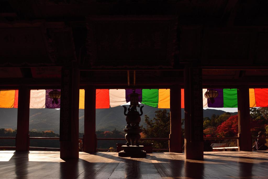 秋 本堂からの景観