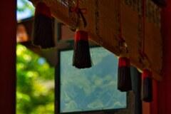 チラっと見せる新緑~談山神社
