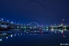 石津漁港の夜