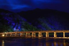 渡月橋~嵐山花灯路2018