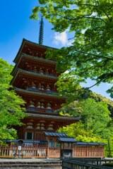 新緑と昭和の名塔