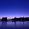 奇岩の夜明け