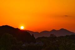 大和の郷に陽が沈む・・・ 壱