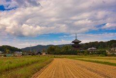 秋の法起寺~参