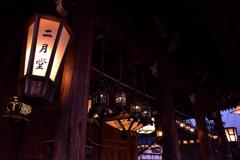 夕刻の釣燈籠
