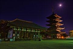 東金堂と五重塔~興福寺 Night Version