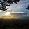 吉野山からの夕景