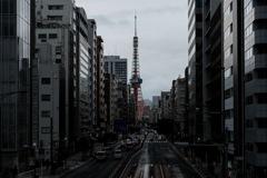 東京タワーを