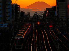 富士山と京王電車