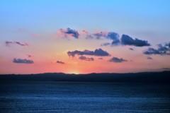 江ノ島の落日
