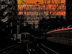 京王電車と富士山