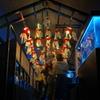 柳井金魚提灯と金魚の水槽