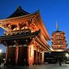 宝蔵門と五重の塔