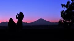 富士山と二人