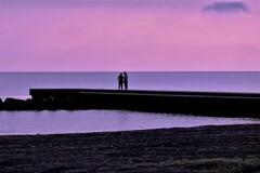海辺の二人