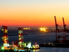 川崎の夕景