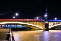 蔵前橋のライトアップ