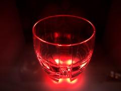 グラスのライトアップ