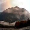 上高地の山々 朝焼け 日本の風景