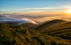 伊吹山からの朝景