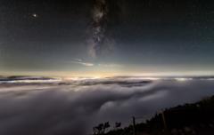 雲海とMilky Way