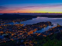 ノルウェー ベルゲンの夕景