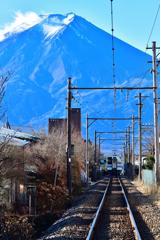 富士山に向かって