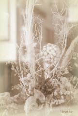 洋服屋さんの飾り花